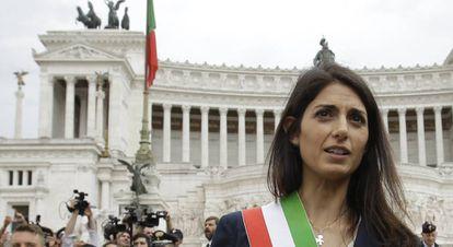 La alcaldesa de Roma, Virginia Raggi.