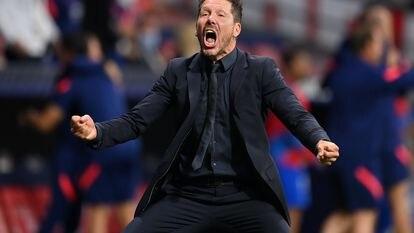 Diego Simeone, entrenador del Atlético de Madrid.