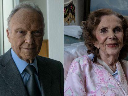 Alejandro Gertz y Laura Morán, pareja de su hermano.