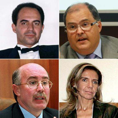 José Manuel Gómez Benítez,  Manuel Torres Vela (arriba), Fernando de Rosa Torner y Gema Gallego Suárez (abajo).