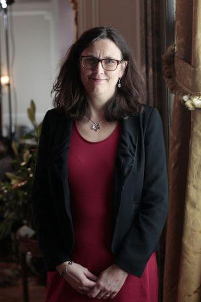 La comisaria de Comercio de la Comisaria Europea, la sueca Cecilia Malmström