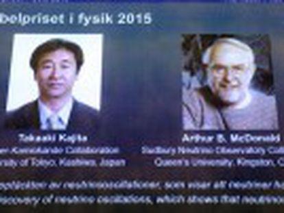 El japonés Takaaki Kajita y el canadiense Arthur McDonald reciben el Premio Nobel de Física por el descubrimiento de la oscilación de los neutrinos