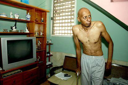 Guillermo Fariñas, el 2 de marzo en su casa en Santa Clara.