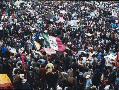 Vista general  de la multitud durante el concierto de Avandaro.