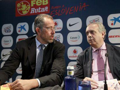 Juan Antonio Orenga y José Luis Sáez, tras anunciar la lista