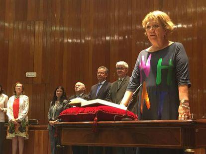 María Teresa Patiño Lafuente, directora general de Servicios para la Familia y la Infancia, en su toma de posesión, este julio.