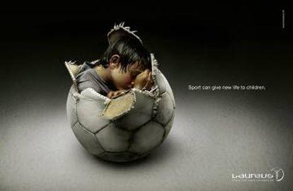 """Fundación Laureus. """"El deporte puede dar una nueva vida a los niños"""". Agencia Jung von Matt/Alster, Alemania."""