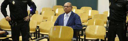 El expresidente de la patronal CEOE, Gerardo Díaz-Ferrán, en el banquillo de los acusados.
