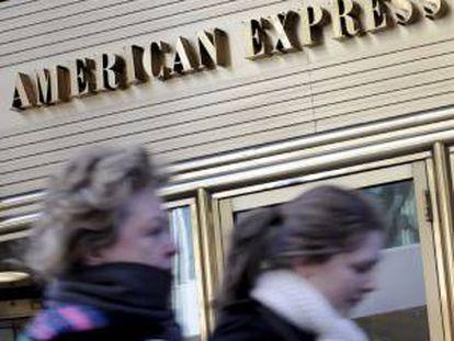 En la imagen, las oficinas de la compañía de tarjetas de crédito American Express en Nueva York, EEUU. EFE/Archivo