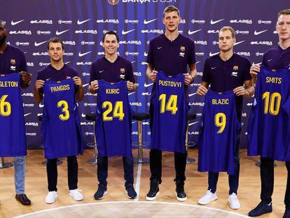 Las seis nuevas incorporaciones del Barça de baloncesto.
