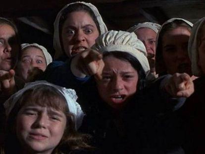 Fotograma de 'El crisol', película que narra los juicios de Salem.