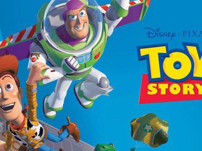 Primer cartel de Toy Story.