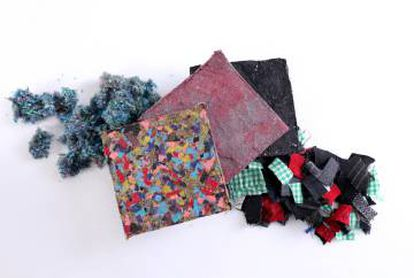 Materiales textiles reciclados.