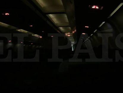 Así se ha vivido el aterrizaje del avión de Air Canadá en Madrid desde dentro.