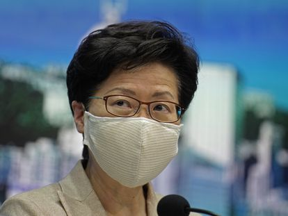 Carrie Lam, en una rueda de prensa en Hong Kong el pasado día 19.