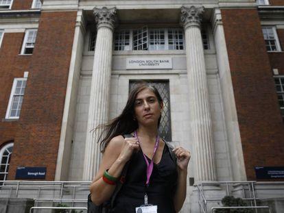 María Chatzichristopoulou, profesora griega en la London South Bank University.