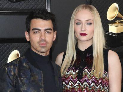 Joe Jonas y Sophie Turner, en los Grammy de 2020 celebrados en enero en Los Ángeles (California).