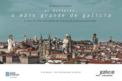 'Las mujeres, lo más grande de Galicia', era el lema de la anterior campaña del 8 de marzo.