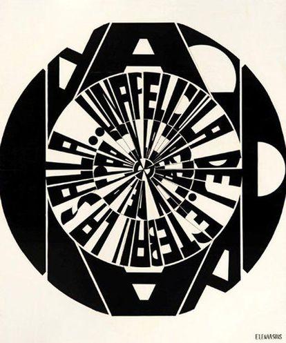 <i>Composición circular letrista</i> (1967-1969).