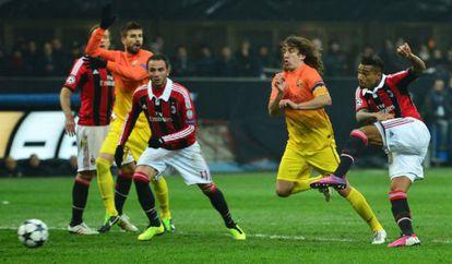 Boateng marca el primer gol del Milan.