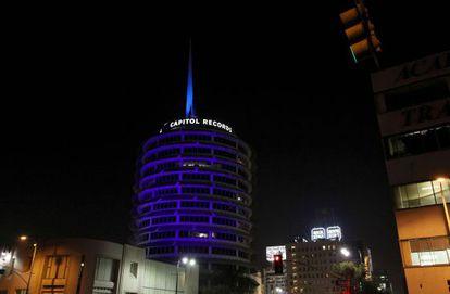 La sede de la discográfica Capitol Records en Hollywood.