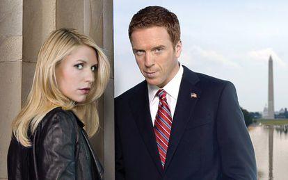 Claire Danes y Damian Lewis, protagonistas de 'Homeland'.