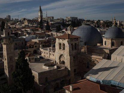 Vista de la ciudad vieja de Jerusalén este lunes.