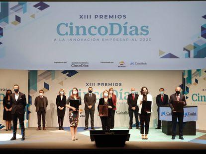Acto de entrega de los Premios Cinco Días a la Innovación 2020.