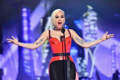 Lady Gaga en la entrega de los premios MTV en 2018.