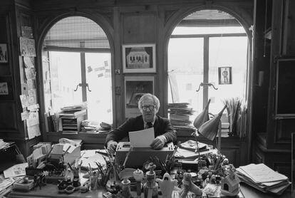 Ray Bradbury en Los Ángeles, California, en torno a 1980.