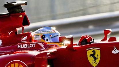 Fernando Alonso, durante la carrera en Sochi.
