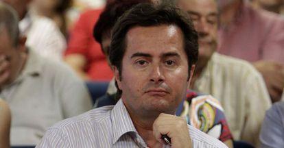 El alcalde de El Ejido, Francisco Góngora (PP), en un acto en 2010.