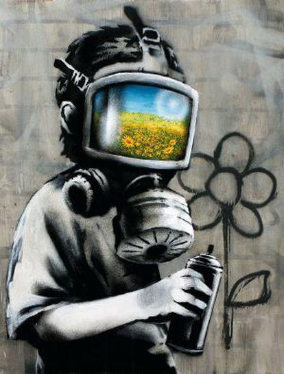 'Autorretrato' de Banksy realizado en 2010 para El País Semanal.