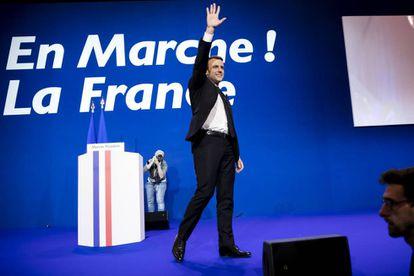 El presidente de Francia Emmanuel Macron en un acto en París en 2017.