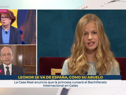 Rótulo de TVE sobre Leonor de Borbón.