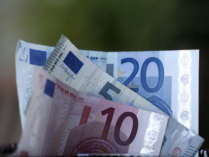 Billetes de euro, en una fotografía de archivo.