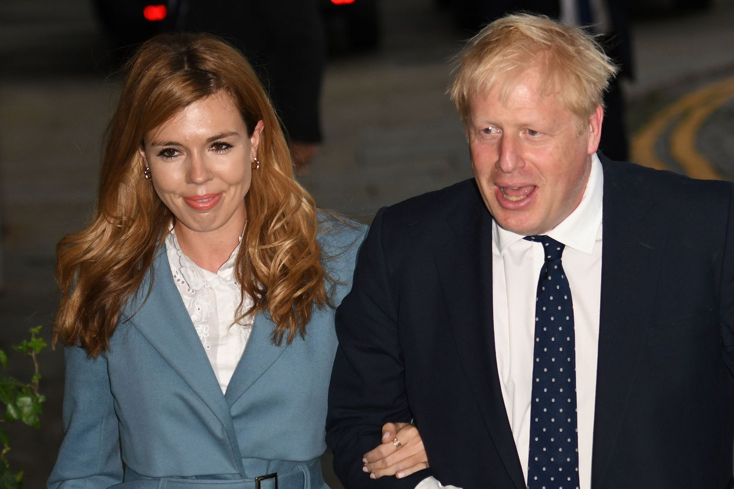 Boris Johnson et Carrie Symonds, en septembre 2019 à Manchester.