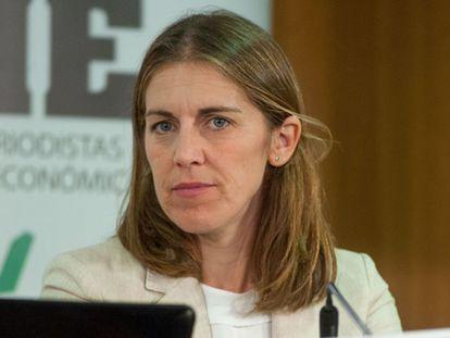 Paula Conthe, durante una jornada formativa organizada conjuntamente con APIE en 2018.