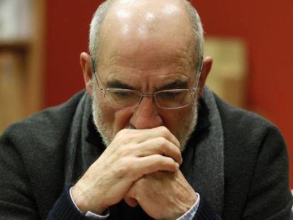 Alejandro Ruiz-Huerta, último superviviente de la matanza de Atocha, durante una entrevista con EL PAÍS, en 2017.