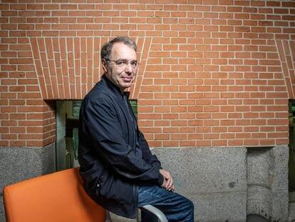 David Safier, en la Biblioteca Eugenio Trías de El Retiro, este viernes.