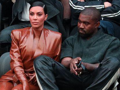 Kim Kardashian y Kanye West, en la semana de la moda de París el pasado marzo.