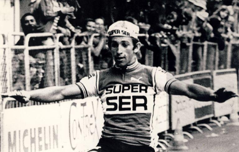 José Luis Viejo, vencedor  en la etapa de Altos Alpes Provenza, el 6 de julio de 1976.