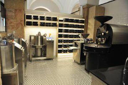 El obrador 'bean to bar' del Museo de la Xocolata.