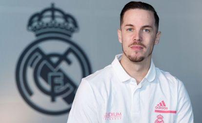 Thomas Heurtel, en su presentación como nuevo jugador del Real Madrid