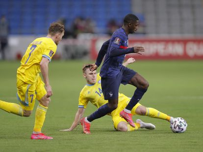 Dembélé, en el partido contra Kazajistán.