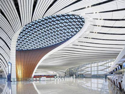 El nuevo aeropuerto Daxing de Pekín, diseñado por Zaha Hadid Architects.
