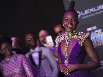 Lupita Nyong'o, en el estreno de 'Black Panther' en Los Ángeles el pasado 29 de enero