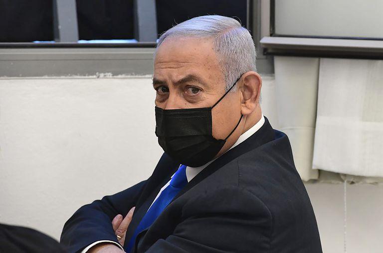 El primer ministro israelí, el lunes ante el tribunal de Jerusalén que le juzga por corrupción.