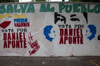 Mensajes electorales en las calles de Caracas