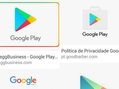 Simbología de Google Play.